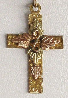 Very Sweet Old Black Hills Gold Cross Pendant http://www.rubylane.com/item/506482-100-5621/Very-Sweet-Black-Hills-Gold#.T3oGRmfv5gw.twitter via @rubylanecom