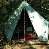 Vintage Boyscout Camp on a lake in Wisconsin. For the hipster camper.
