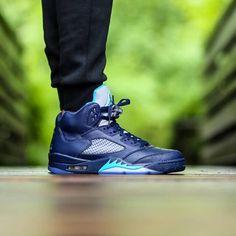 38b4baf7b568 Amazing OTF shot of the Nike Air Jordan 5 Retro Midnight Navy http