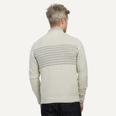 Geometric Cotton Sweater in Cream | Frank & Oak