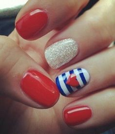 Very cute 4th of July nails I think yes