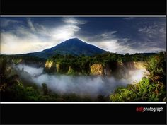 Mount Marapi, seen from Ngarai Sianok, Bukittinggi, West Sumatera