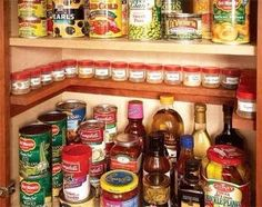 Another way to save space is by DIYing a shelf for spices in your cabinet.