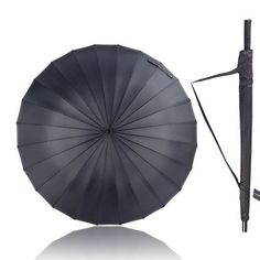 Stormeagle 52inch Straight Golf Umbrella Windproof RainUV Protection Travel Umbrella With Super Large Canopy  Sturdy and Portable Black 24 Ribs * Continue to the product at the image link.