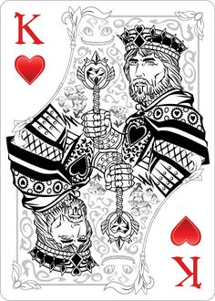 The King of Hearts Playing CardAlice Of Wonderland | Alice Of ...