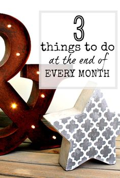 3 things that you can do each month to help you be organised and less stressed - and on track with whatever your goals and plans are!