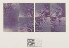 Jan Dibbets Water Structure, 1975 Diptych of chromagenic color prints arranged in geometric squares Diptych 6 inches; Land Art, Calm, Abstract, Artwork, Prints, Photography, Paint, Summary, Work Of Art