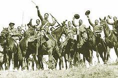 Caballería republicana en la Sierra de Guadarrama. Foto de Santos Yubero    Memoria gráfica de la guerra civil en la Sierra de Guadarrama
