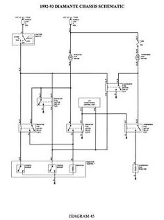 click image to see an enlarged view mitsubishi galant, electrical wiring  diagram, cars and