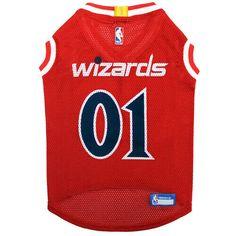 f80582cadbb WASHINGTON WIZARDS NBA Licensed Pets First Dog Pet Mesh Red Jersey Sizes  XS-L #