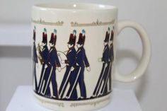 Vtg HALLMARK Marching Band / Soldier Christmas MUG / CUP Japan