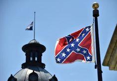 A bandeira confederada é vista em Columbia, Carolina do Sul, no dia 19 de junho de 2015. Governadora da Carolina do Sul manda retirar bandeira confederada.