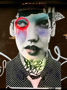 Illustration: Collage art by Brooklyn based street artist Dain - TriBeca, NYC Art Du Collage, Collage Artists, Mixed Media Collage, Illustration Art, Illustrations, Atelier D Art, Photocollage, Foto Art, Arte Pop