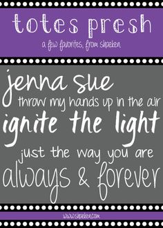 sprinkles & glitter: {Fantastic}Fonts - Week 2  ~~ {5 Free fonts w/ links}