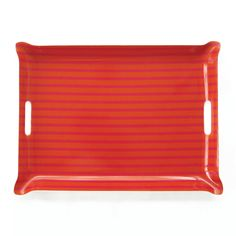 Garden Party: The Brittany Butler tray reveals a sunny stripe pattern on laminated fabric from @sunbrella Performance Art by @johndransfield ($275).
