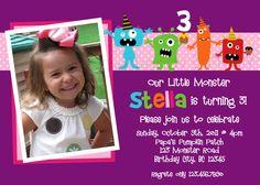 Monster Birthday Invitation Monster Birthday Party Invite Printable Girls or Boys. $15.00, via Etsy.