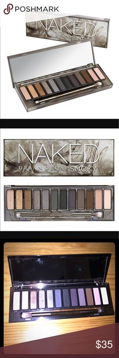 Urban Decay Naked Smoky Eyeshadow Palette NEARLY NEW Urban Decay Eyeshadow Palette!! This was only swatched once, and it was swatches on only a few colors: HIGH, RADAR, SLANTED & SMOLDER. It's just a palette that I never use and I hate to see it go to waste! Comes with dual ended brush that has been sanitized. Comes from a smoke free home! Feel free to make an offer! And if you bundle it with anything else in my closet, you'll get 30% OFF!!! 😍 Urban Decay Makeup Eyeshadow