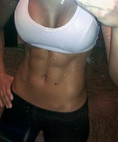 Dang girl! Those abs look awesome! Must love this workouts.