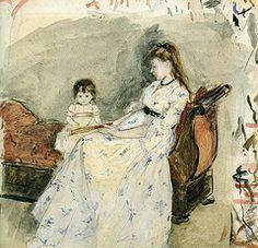 Berthe Morisot : On the Sofa, c. 1882. - Google Search