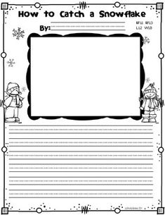 Art/Writing Activity Snowday Freebies {How to Catch A Snowflake} Kindergarten Writing, Teaching Writing, Writing Activities, Winter Activities, Writing Lessons, Science Lessons, Creative Writing For Kids, Procedural Writing, Teaching Themes