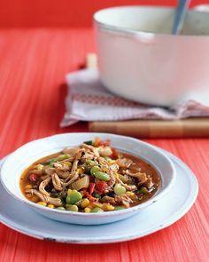 Chicken, Corn, and Lima-Bean Stew