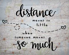 Long Distance Relationship Gift Distance Means So Little Love Quote Gift - Long Distance Family Gifts Distance Friendship Gift Map Print