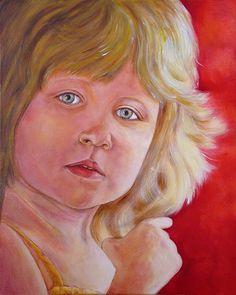 """Krystyna Beata Bogdańska """"Portret dziewczynki"""" akryl na płótnie; werniksowany; rok 2012; Portret dziewczynki   zoom   digart.pl"""