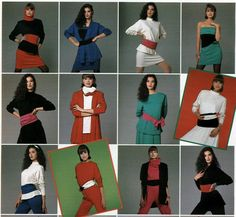 Women's Fashion from a 1988 catalog #vintage #fashion #1980s