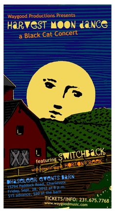 Harvest Moon Dance with Switchback 9/28/12 - art by Anne de Courtenay