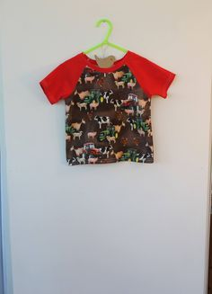 Farm toddler t shirt for a 1,2&3 year old, gift idea by DottyBirdKidsClothes on Etsy