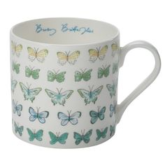 'Busy Butterflies' Large Fine Bone China Mug | Sophie Allport