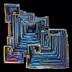 Iridescent Blue Bismuth Crystal by Alberto Iancer- via Angela Jackson