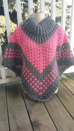 Hot Off My Hook! Project: Cowl Neck Poncho Started: 14 Jan 2016 Completed: 16 Jan 2016 Model: Madge the Mannequin Crochet Hook(s): 7mm, Cowl portion, K, Grann