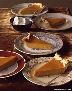Classic Pumpkin Pie - Martha Stewart Recipes.  I have made this pie and it is outstanding.  Please use the sugar pie pumpkin and not canned - you will not believe the difference! http://www.marthastewart.com/317045/classic-pumpkin-pie