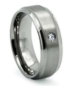 FB Jewels Solid Edward Mirell Black Titanium /& Stainless Steel Polished 9mm Wedding Band