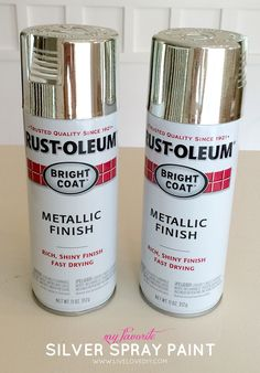 This is the BEST shiny chrome silver spray paint that mimics silver leaf!