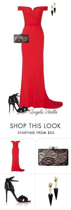 """Untitled #846"" by angela-vitello on Polyvore featuring Alexander McQueen, Jessica McClintock, Christian Louboutin and Alexis Bittar"