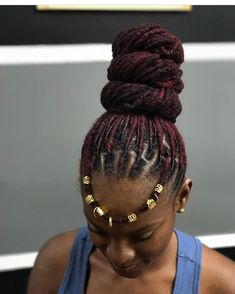 couldn't leave without getting blessed 👑👑👑 😍😍 3 scoop Loc bun Dreads Styles, Dreadlock Styles, Braid Styles, Dreadlock Hairstyles, African Hairstyles, Braided Hairstyles, Cool Hairstyles, Wedding Hairstyles, Dreads Girl