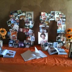 Grandmas 80th birthday party! Put pictures of Grandma on the number 80!