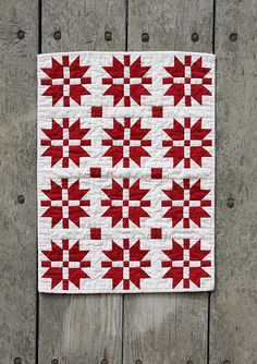 I LOVE red and white quilts!