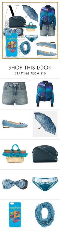 """""""set for alert"""" by denisee-denisee ❤ liked on Polyvore featuring Givenchy, Y-3, Charlotte Olympia, Avenue, Nannacay, A.P.C., Lygia & Nanny, Fleur of England, Moschino and vintage"""