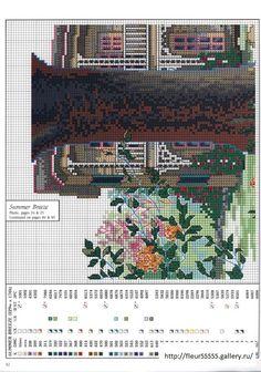 """Summer Breeze"" cross stitch pattern by Paula Vaughan.   Found on fleur55555.gallery.ru (top left)"
