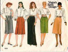 Vintage UNCUT Vogue Basic Design Pattern 1023  by AllThingsVogue