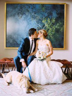 Wedding photos with the doggie too. :)