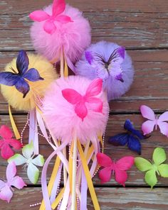 Hey, I found this really awesome Etsy listing at https://www.etsy.com/listing/191735582/5-tulle-pom-poms-butterfly-wand-party