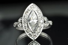 1.25 Art Deco Marquise Diamond Ring, $2995.00