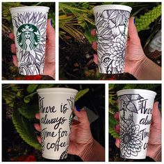 """There is always time for coffee"" by Holli Dougan. #WhiteCupContest"
