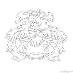 Pokemon coloring - Venusaur, free, pokemon, coloring, page free coloring Super Coloring Pages, Coloring Pages For Boys, Colouring Pages, Coloring Books, Free Coloring, Pokemon Sketch, Pokemon Venusaur, Pokemon Party, Tattoo Sketches