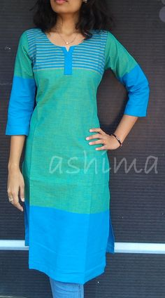 Code 0804152 Rs.690/- Size XS/S/M/L/XL Free Shipping to all courier destinations in India Salwar Pattern, Kurta Patterns, Dress Patterns, Churidar Designs, Kurta Designs Women, Kurta Neck Design, Blouse Neck Designs, African Fashion, Indian Fashion