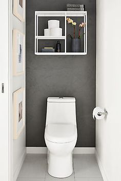 Bathroom Ideas Discover Room & Board - Foshay Wall Shelves in Colors - Modern Wall Shelves & Ledges - Modern Office Furniture Modern Foshay Five-Shelf Wall Unit in White in Metal Toilet Room Decor, Small Toilet Room, Decor Room, Small Toilet Decor, Bedroom Decor, Wall Decor, Shelves In Bedroom, Wall Shelves, Kitchen Shelves